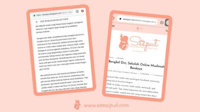 Blog Sebelum dan Sesudah Blogspedia