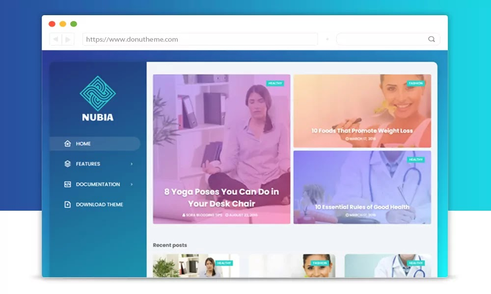 Nubia Responsive Blogger Template
