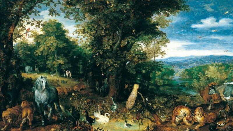 Jan Brueghel I El Jardín del Edén c. 1610-1612