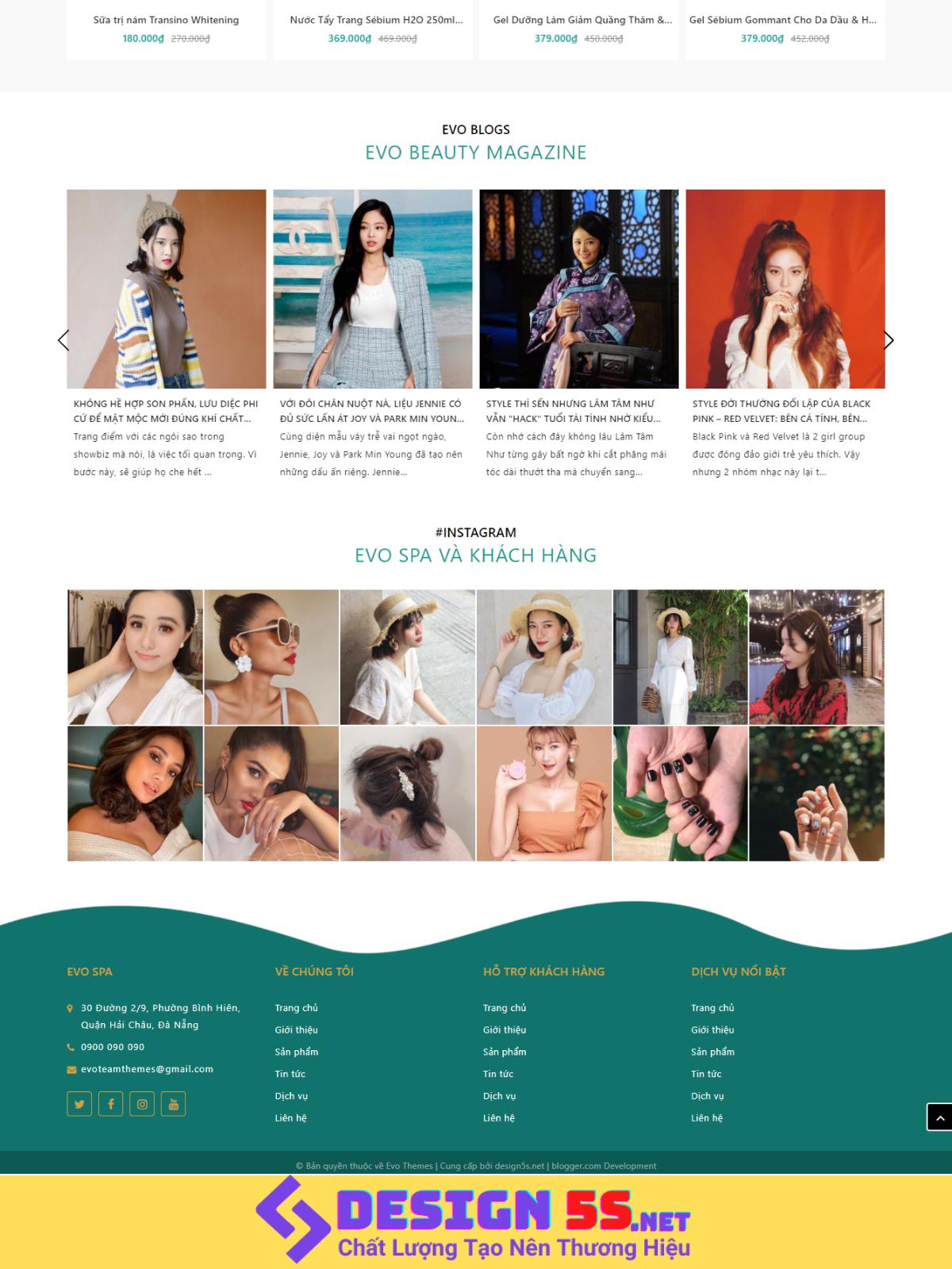 Theme blogspot bán mỹ phẩm, kinh doanh Spa VSM84 - Ảnh 2