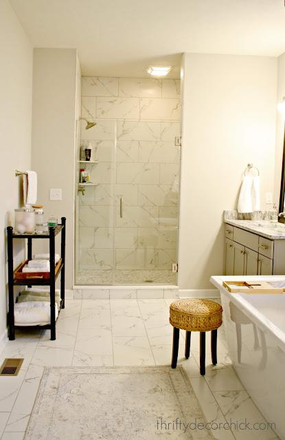 Marble 12x24 tile floors