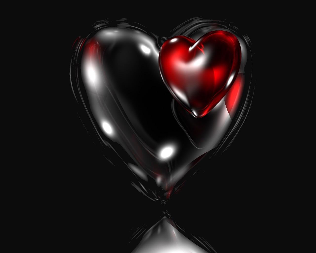 Abstract Wallpaper Black Hearts Blue 3d And Hd Wallpaper: Aşkın Resmi,Aşkın Şiiri: SANMAKİ SENİ GERÇEKTEN SEVEN