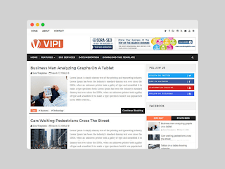 Vipi blogger template Free Download |