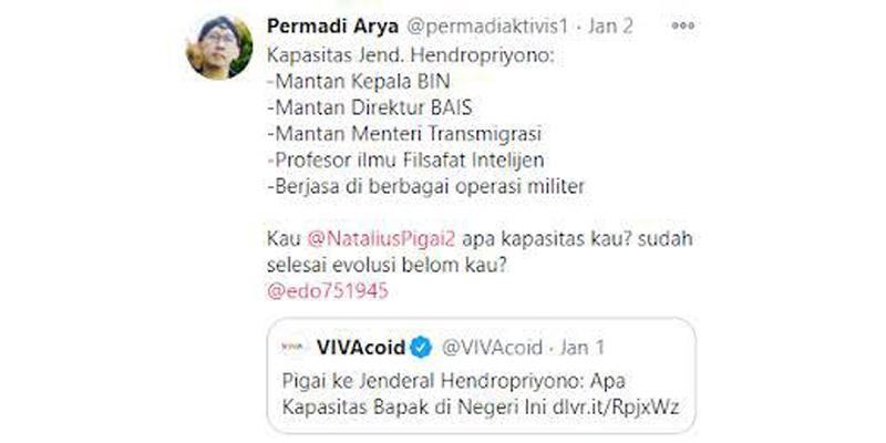Ahli Bahasa: Tweet Abu Janda Untuk Pigai Menyinggung Evolusi Manusia dan Berisi Ujaran Kebencian