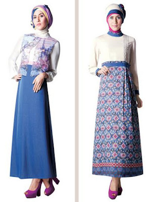 Model Baju Batik Kantor Setelan Rok Terbaru