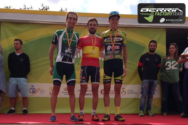 El abulense, corredor del Berria Factory Team, se alzó con el campeonato nacional en Avià sobre una Berria BR Team