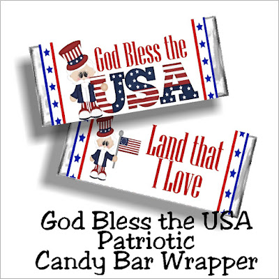 Share this beautiful God bless the USA printable candy bar wrapper at your 4th of July party this year for the perfectly sweet party favor your guests will absolutely love.