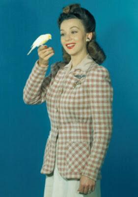 Carole Landis With A Canary