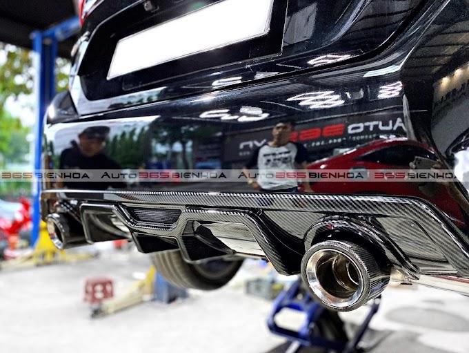 Nâng cấp Lip chia pô Carbon phần đuôi sau cho Honda Civic RS tại Auto365 Biên Hoà