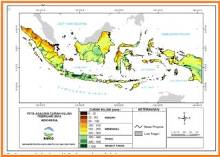 gambarkan pola curah hujan di Indonesia