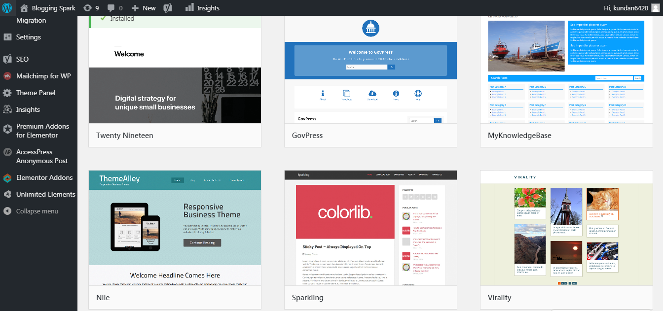 Select WordPress Themes
