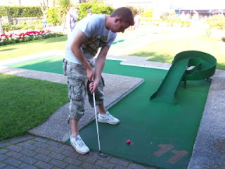 Playing at Bognor Regis Mini Golf