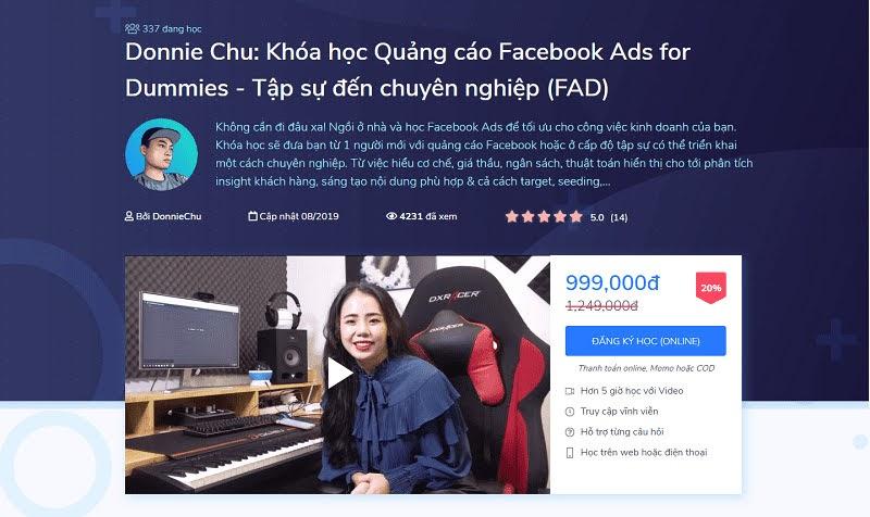 Khóa học quảng cáo Facebook Ads từ tập sự đến chuyên nghiệp -  Tối ưu chi phí & thời gian (FAD)