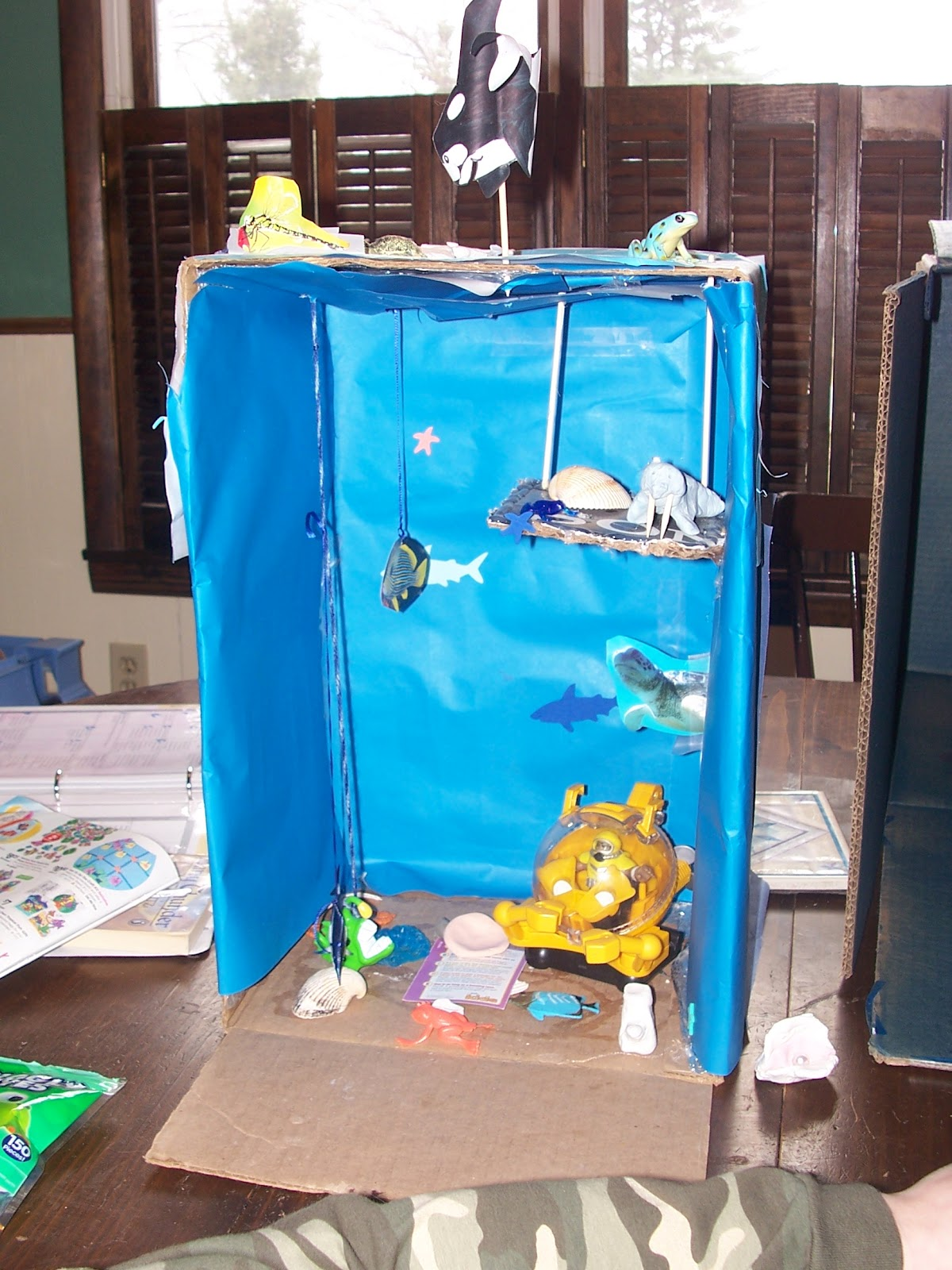 Kitchen Diorama Made Of Cereal Box: MuchLikeHippies: Ocean Boxes
