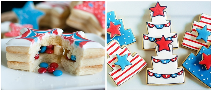 Bake at 350 decorated cookie index: patriotic cookies