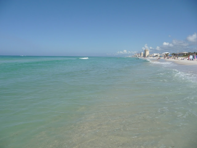 Beautiful Emerald Green Water at Destin Beach