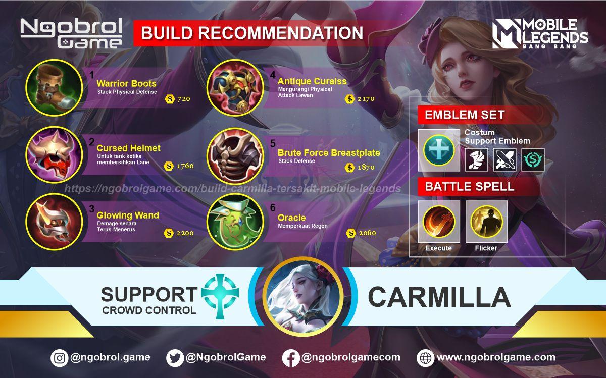Build Carmilla Tersakit 2021 Mobile Legends