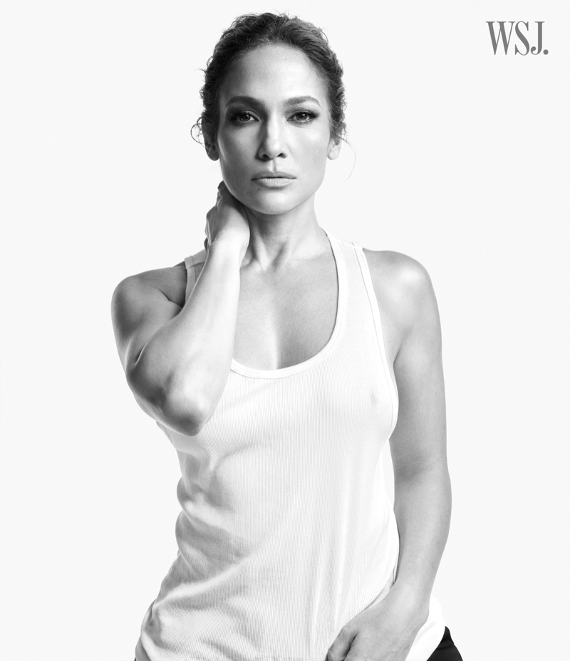 Jennifer Lopez wears The Society Archive tank top.