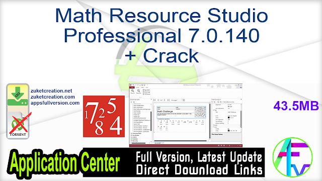 Math Resource Studio Professional 7.0.140 + Crack