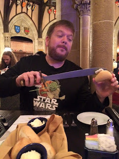 My husband misbehaving at Disney's Royal Table