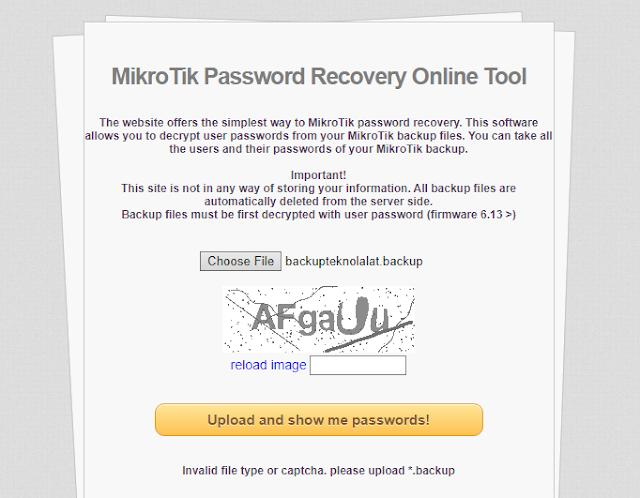 Mikrotik Recovery Tool