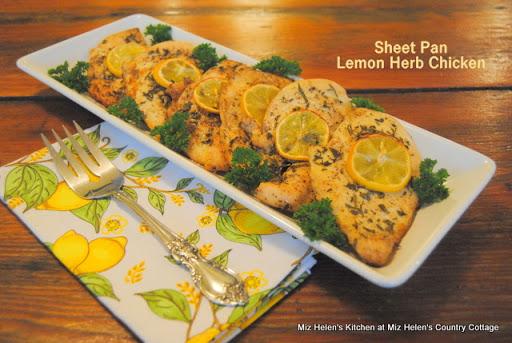 Sheet Pan Lemon Herb Chicken
