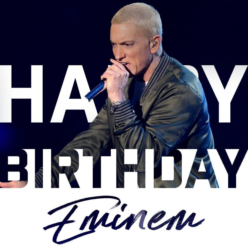 Eminem's Birthday Wishes Photos