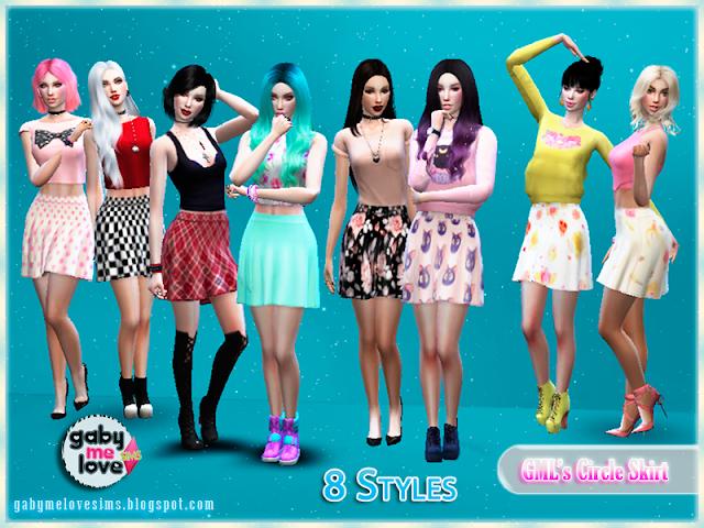 GML's Circle Skirt, Sims 4
