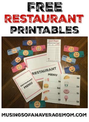 free restaurant printables