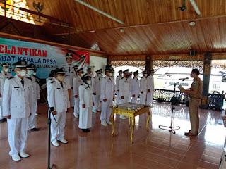 Bupati Batanghari Muhammad Fadhil Arief,SE Melantik 25 Pejabat Kepala Desa
