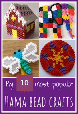 My ten most popular Hama bead crafts