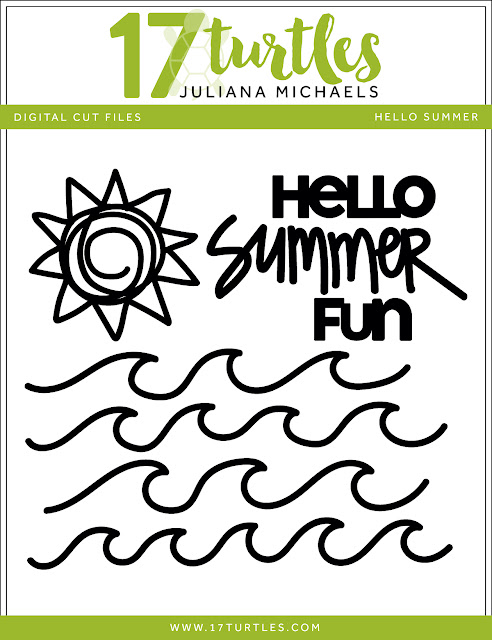 Hello Summer Free Digital Cut File by Juliana Michaels 17turtles.com