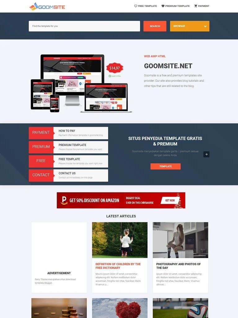 Template Pro AMP HTML v3.00 Responsive Blogger - Ảnh 1