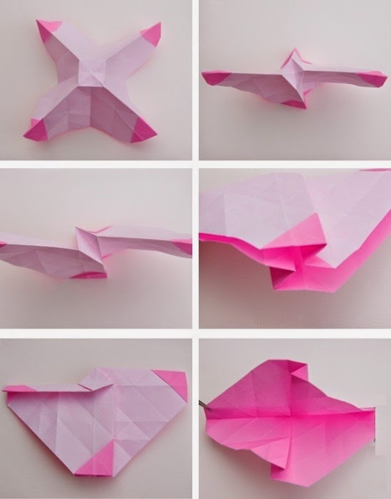 origami rose easy instructions