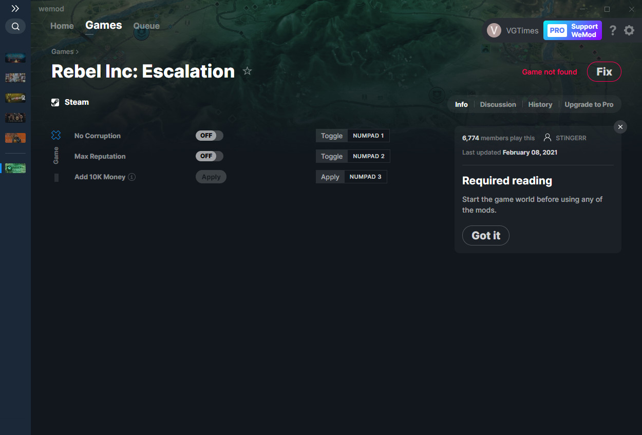 Rebel Inc: Escalation: Trainer (+3) from 08.02.2021 [WeMod]