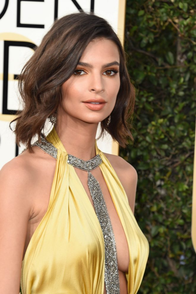 Emily Ratajkowski – 74th Annual Golden Globe Awards in Beverly Hills
