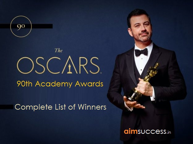 Oscars Awards 2018: 90th Academy Awards Winners