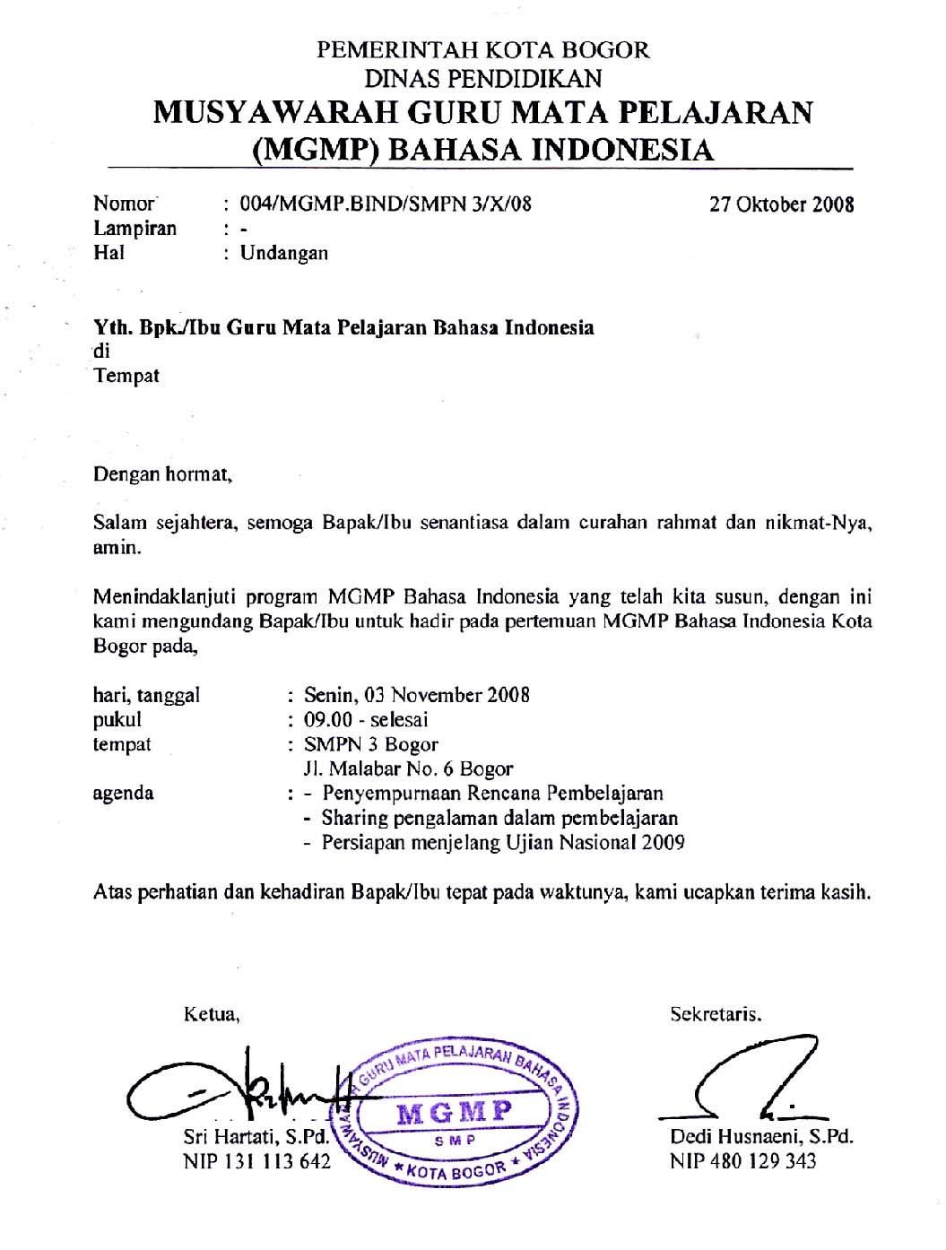 contoh surat undangan resmi yang benar siamplop contoh undangan resmi stopboris Gallery