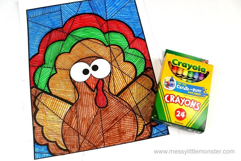 coloring turkey