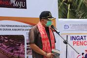 Ketua Komisi V DPR RI Lasarus Lakukan Peletakan Batu Pertama Pembangunan Waterfront di Sintang