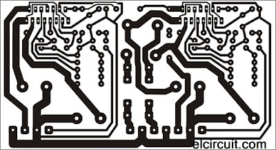 PCB Layout Bridge TDA 7294 Power Amplifier