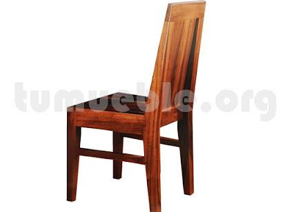 silla comedor en teca 4137