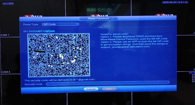 Cara reset password DVR/XVR dahua dengan mudah