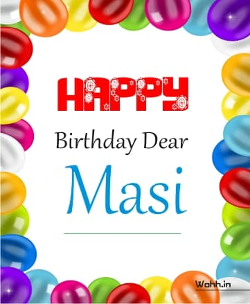 Happy Birthday Wishes For Mausi English