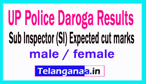 UP Police Daroga Results 2018 Sub Inspector (SI) Expected cut marks male / female
