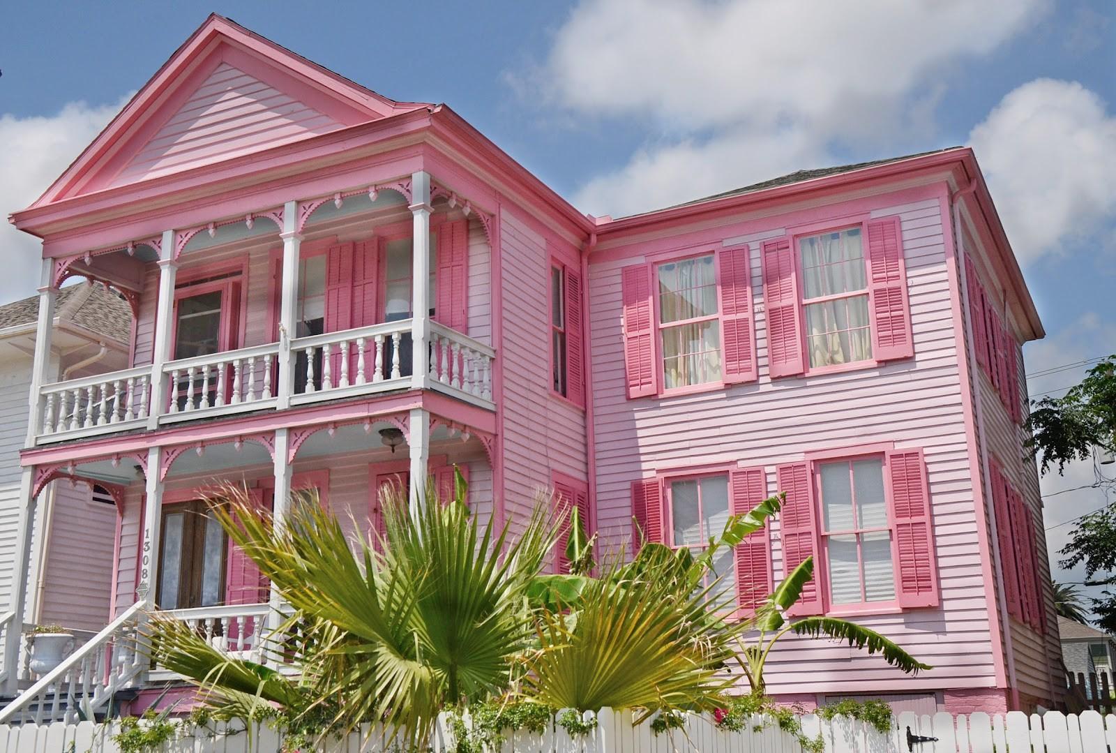 830 Gambar Rumah Kayu Sederhana Warna Pink HD