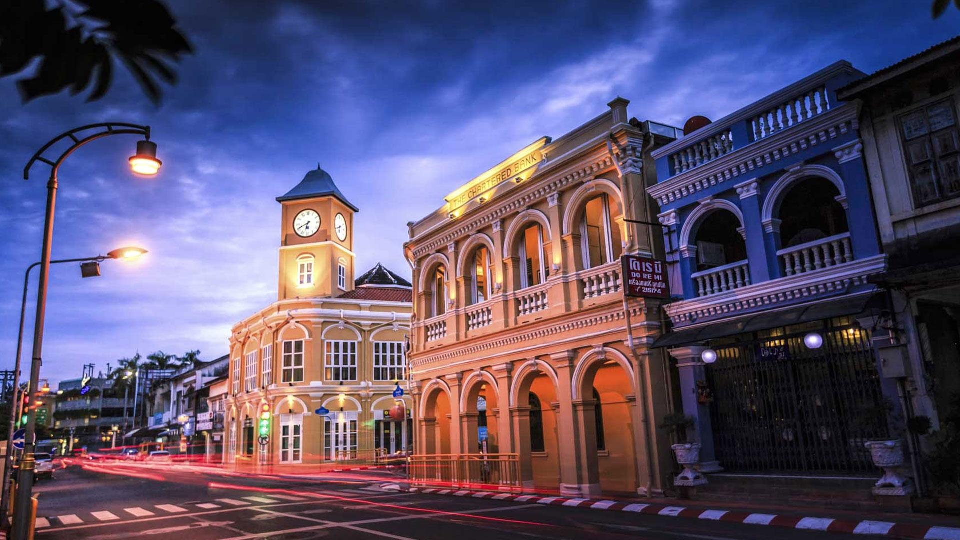 Город Пхукет-Таун в Тайланде