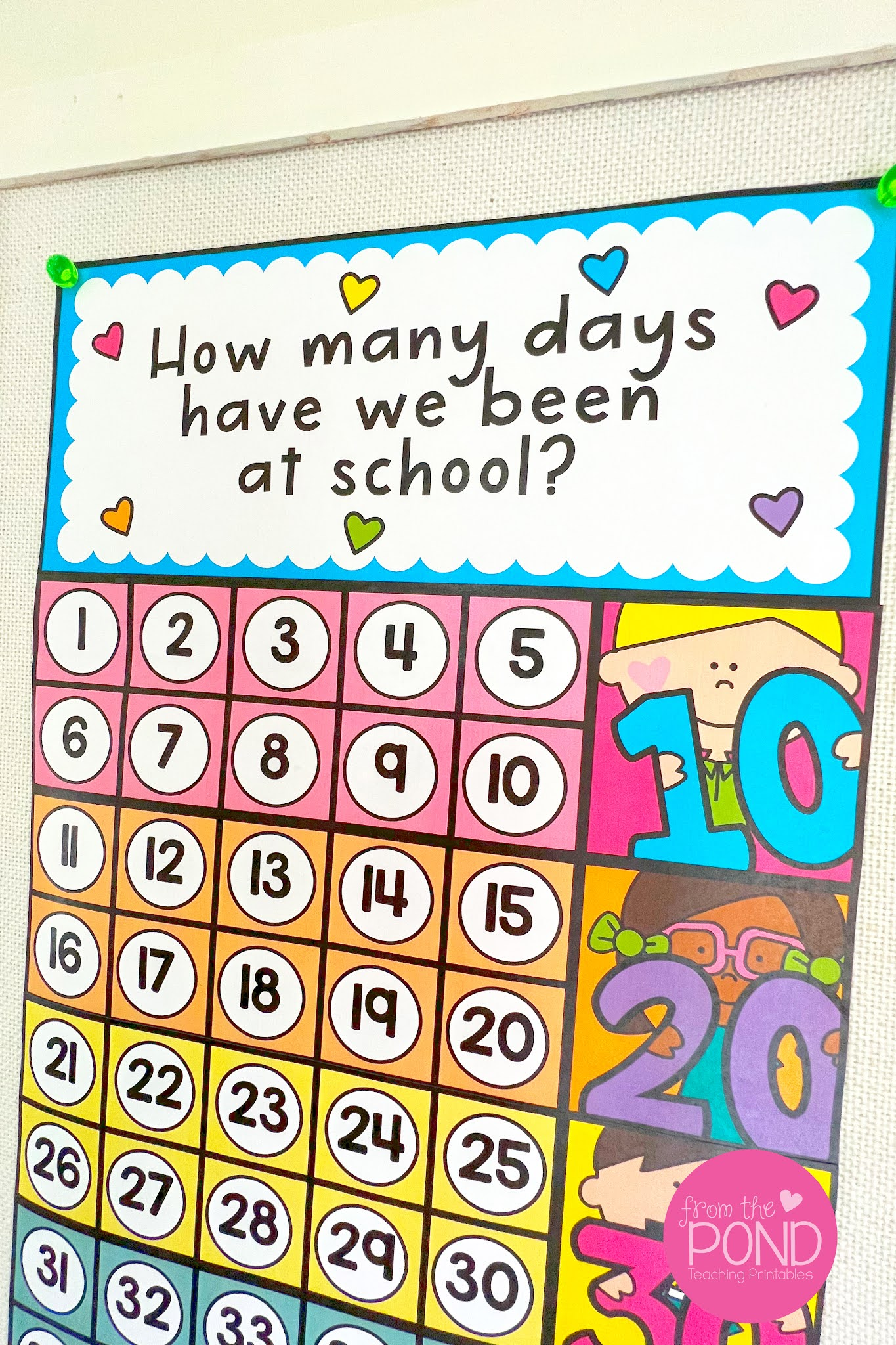 counting days at school