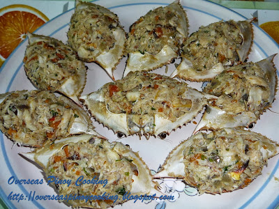 Rellenong Alimasag, Stuffed Crabs - Cooking Procedure