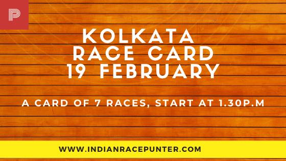 Kolkata Race Card 19 February